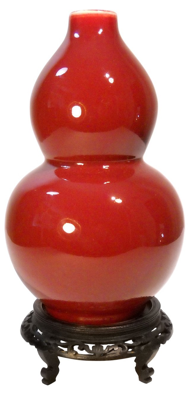 Oxblood Red Double-Gourd Vase