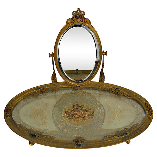 Filigree Bejeweled Vanity w/ Mirror