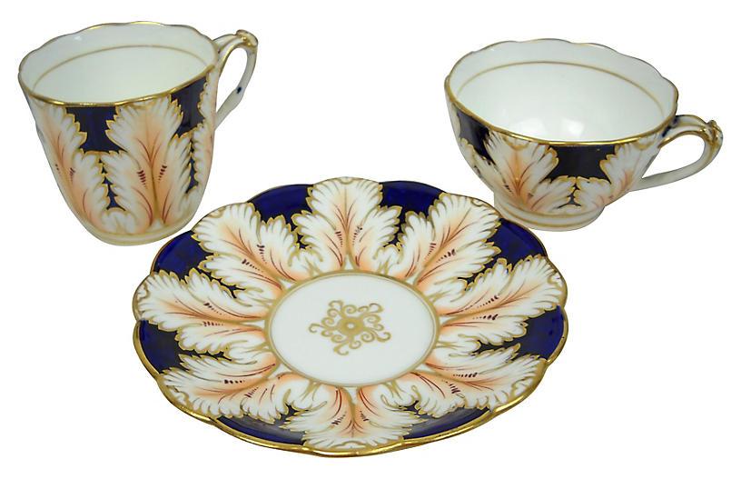 Porcelain Tea & Coffee, 3 Pcs