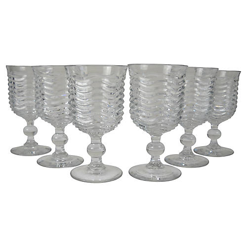Art Deco Wavy Stems, S/6