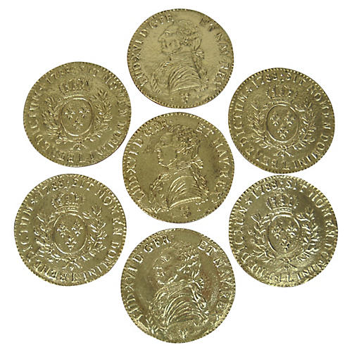 Spanish Colonial Coin Coasters, S/7