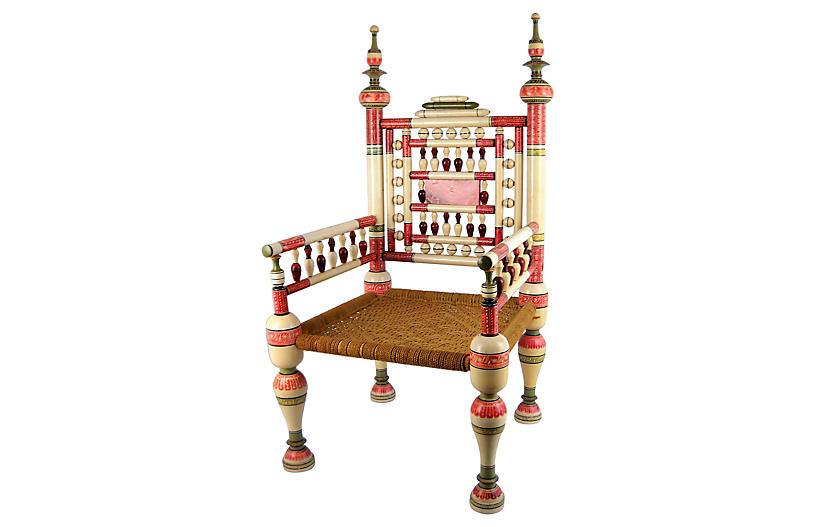 Old Punjabi Indian Wedding Chair