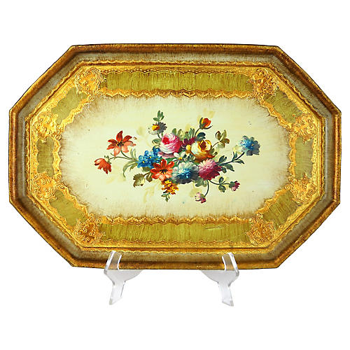 Florentine Floral Tray