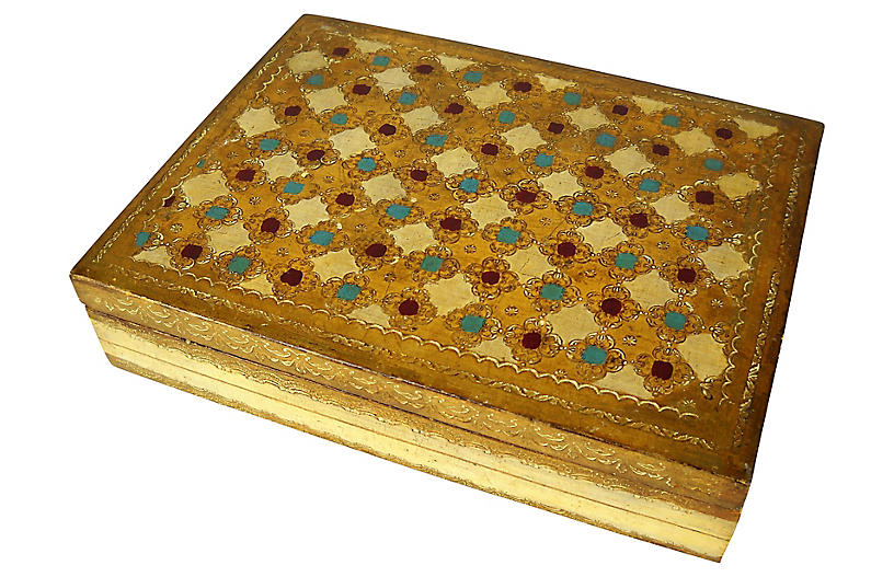 Large Florentine Gilded Box