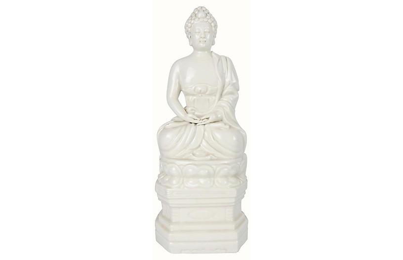 Blanc de Chine Lotus Seated Buddha