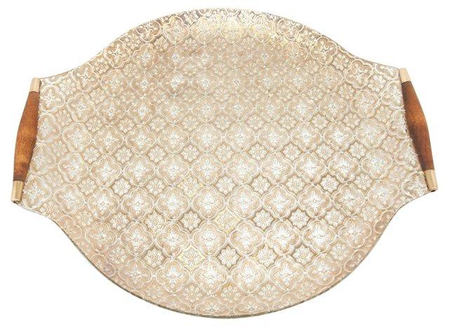Midcentury Glass Tray