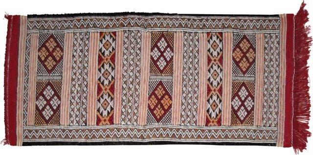 """Moroccan Berber Rug, 4' x 1'11"""""""