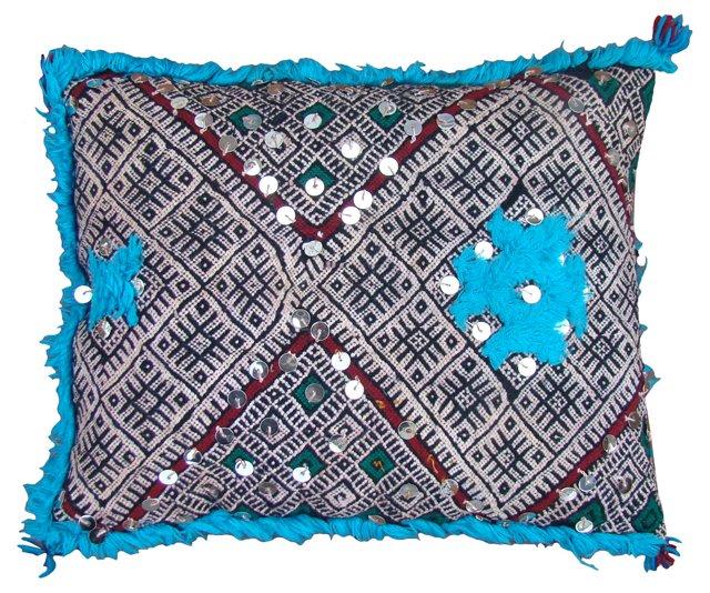 Blue & Green Moroccan Sham