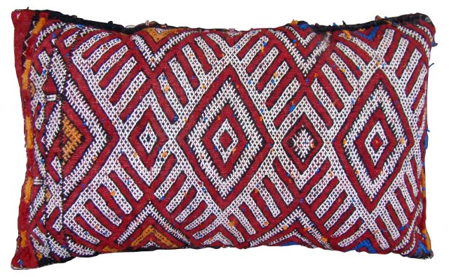 Red & White Moroccan Sham