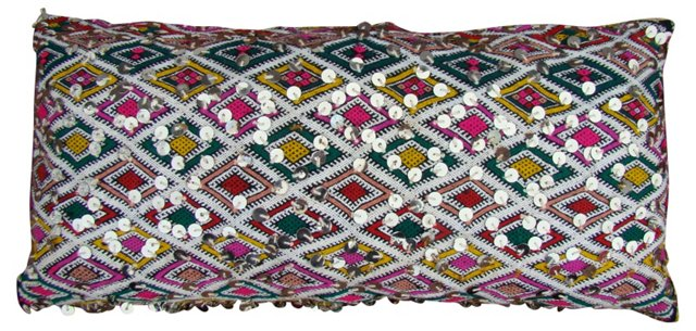 Pink & Green Diamonds Moroccan Sham