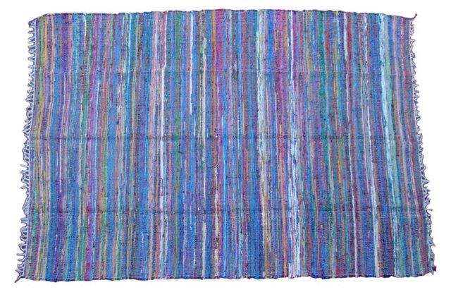 Striped   Boucherouite, 9' x 6'