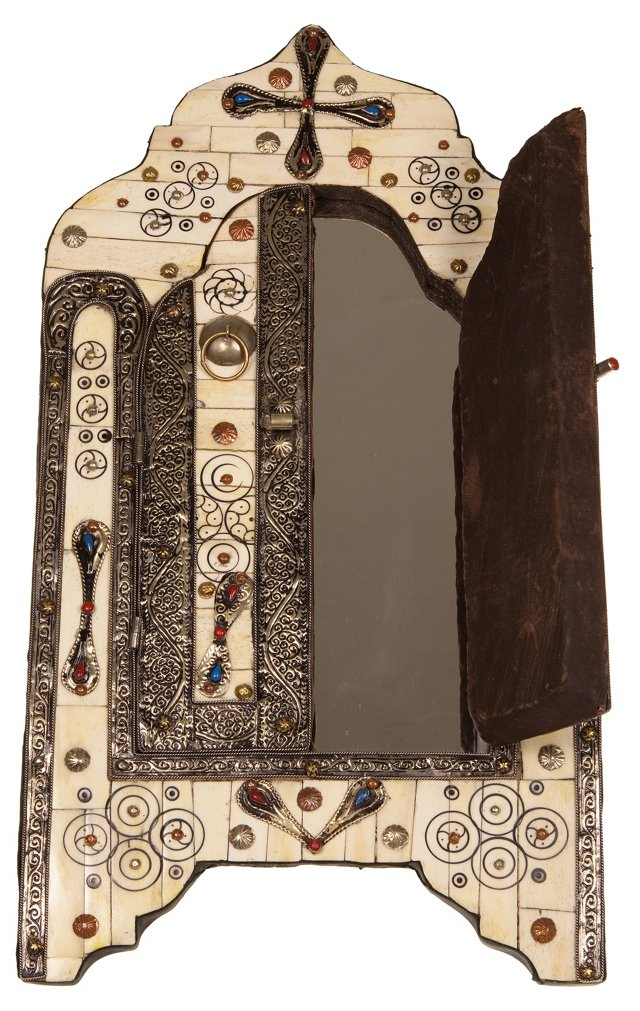 Moroccan Mirror w/ Colorful Inlay