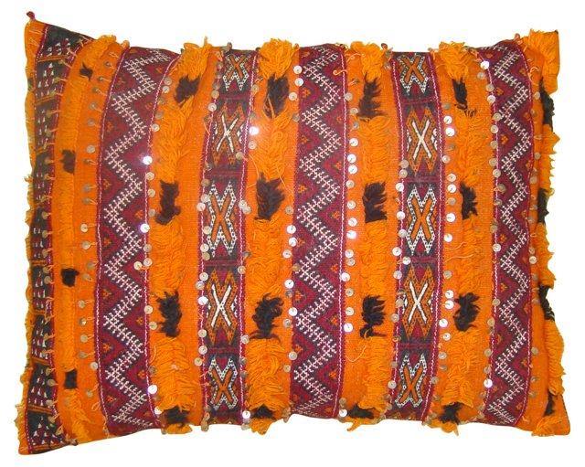 Orange & Black Moroccan Berber Sham