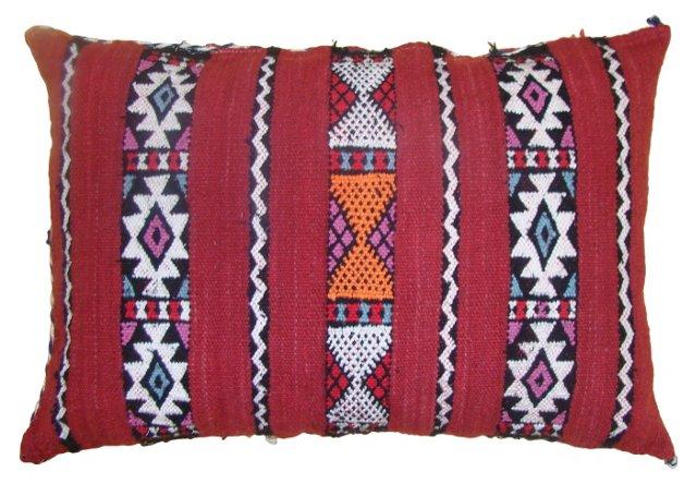 Striped Moroccan Sham w/ Purple & Blue