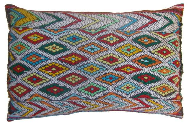 Moroccan Sham w/ Colorful Diamond Design