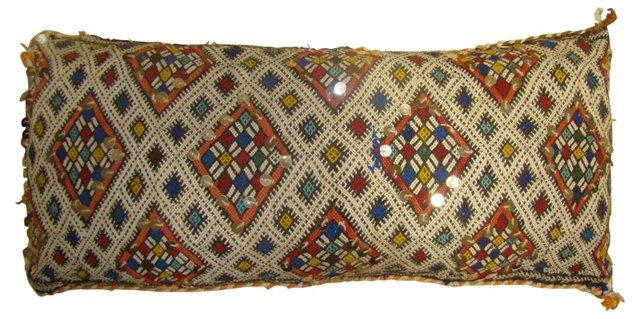 Moroccan Sham w/ Colorful Diamonds