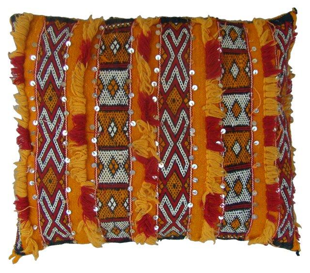 Moroccan Sham w/ Diamond & X Pattern