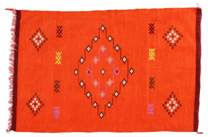 "Moroccan  Cactus Silk  Rug, 4'7"" x   3'"