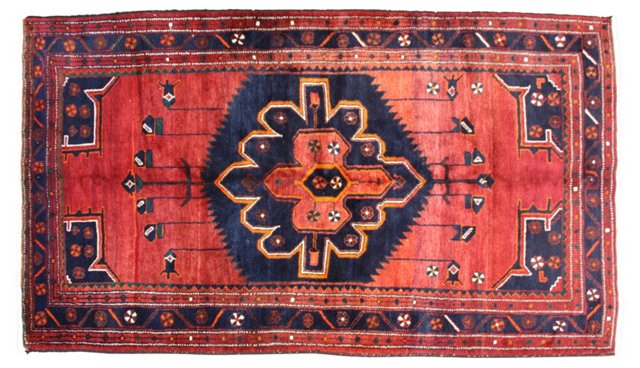 "Afghan Tribal Rug, 7'8"" x 4'11"""