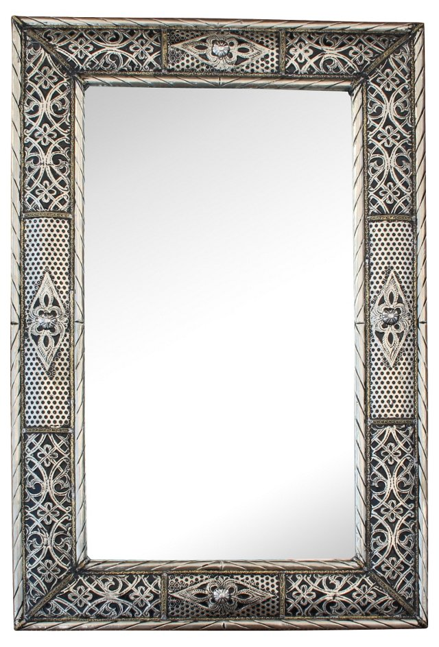 Moroccan Hand-Engraved Mirror