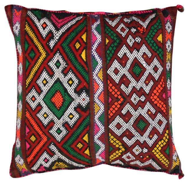 Moroccan Sham w/ Zigzags & Diamonds