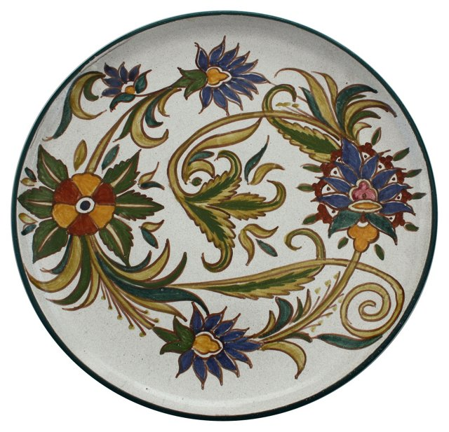 Hand-Painted Moroccan Ceramic Plate