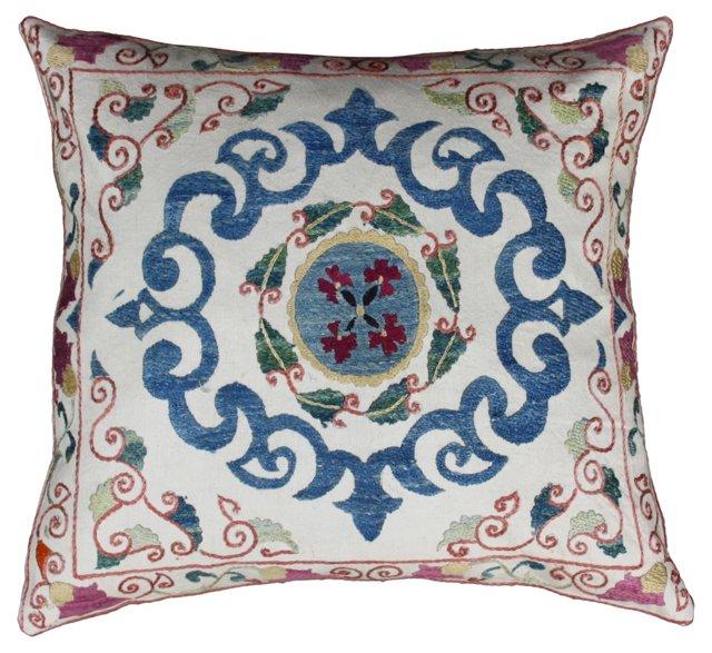 Uzbek Sham w/ Blue & Pink Pattern