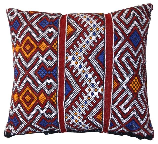 Moroccan Sham w/  Berber Motifs