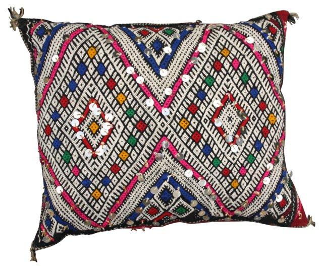 Moroccan Sham w/ Pink & Blue  Diamonds