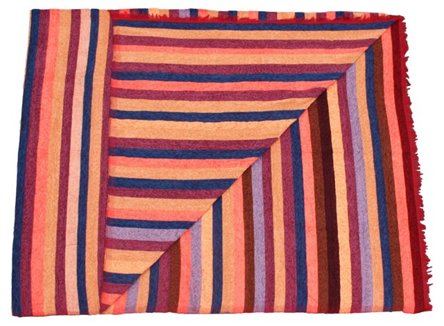 Moroccan Multi-Stripe Silk Throw