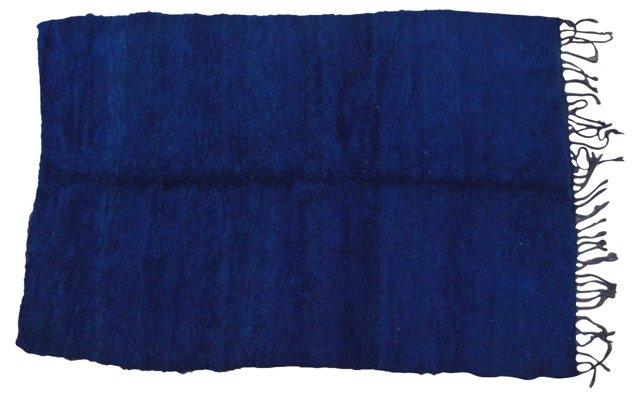 Cobalt Blue Moroccan Rug, 9'4'' x 6'3''