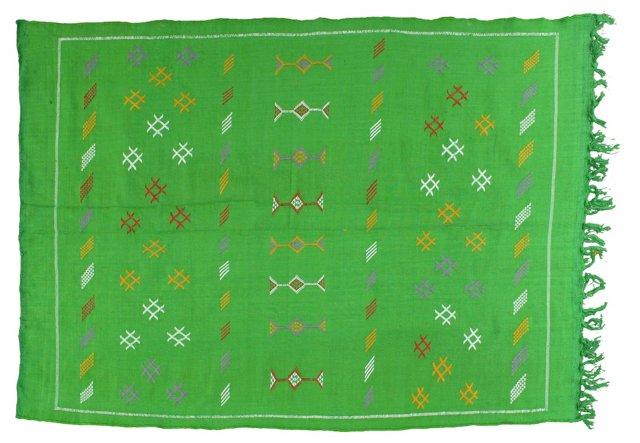 "Moroccan Cactus Silk Rug, 6'4"" x 4'"