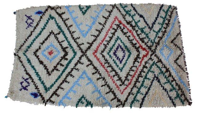 "Moroccan Rug, 6'4"" x 4'"