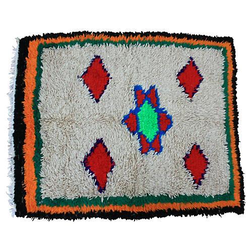 "Moroccan Rug, 4'2"" x 5'3"""