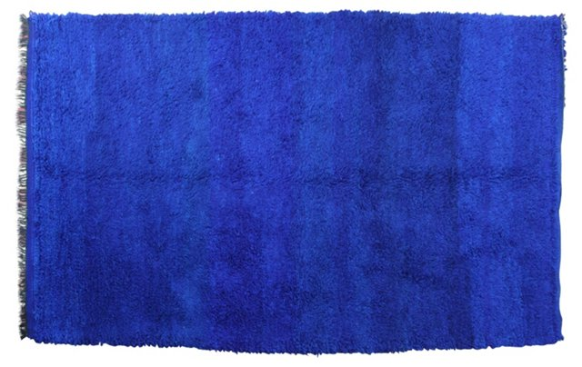 Cobalt Blue Moroccan Rug, 8'3'' x 5'4''