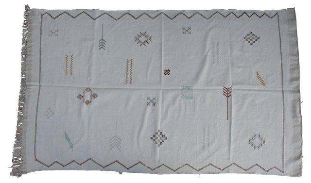 Moroccan Cactus Silk Rug, 6'4'' x  3'8''