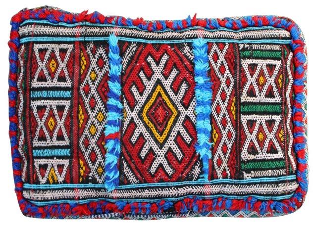 Colorful Moroccan Sham w/ Lion Paw Motif