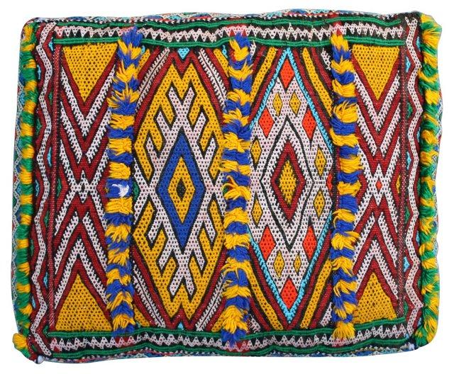 Moroccan Sham w/ Stripes &  Diamonds