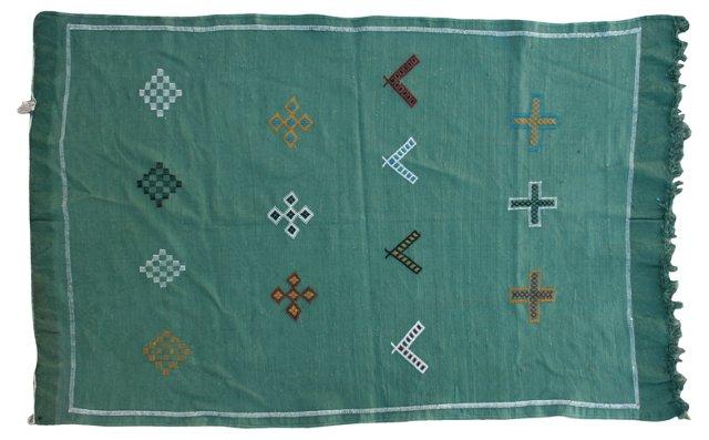 "Moroccan Cactus Silk Rug, 4'7"" x 3'2''"