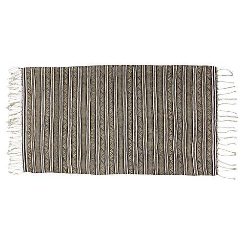Moroccan Handira w/ Ornate Stripes