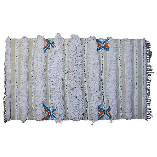 Moroccan Berber Wedding Blanket w/ Blues