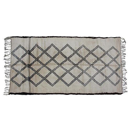 Moroccan Beni Ourain Rug, 6'4'' x 15'