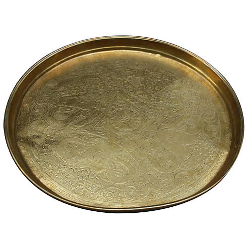 Moroccan Brass Tray