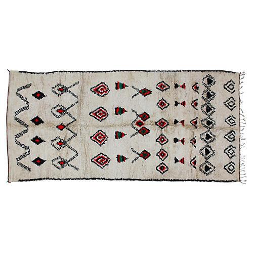 Moroccan Beni Ourain Rug, 11' x 5'1''