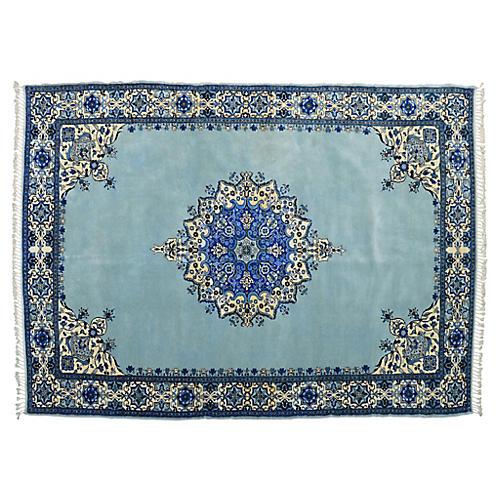 Moroccan Blue Rug, 6'9'' x 10'