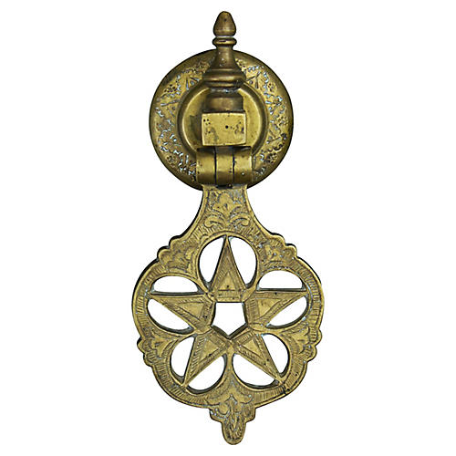 Moroccan Door Knocker w/ Ornate Star