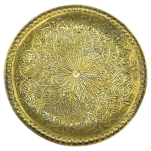 Moroccan Wall Tray w/ Ornate Engravings