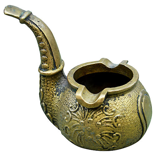 Moroccan Brass Pipe Ashtray