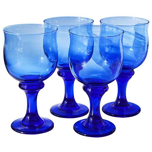 Midcentury Glasses, S/4