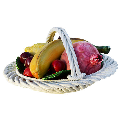 Midcentury Ceramic Fruit Basket